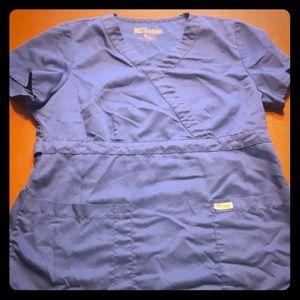 Other - Large Grey's Anatomy scrub top, blue